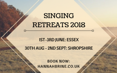 Singing Retreats 2018